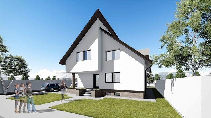 Proiect casa CRISSA. Demisol + Parter + Mansarda | 4 camere | 202mp. Mai multe detalii gasiti aici: http://www.uberhause.ro/proiect-casa-demisol-plus-parter-plus-mansarda-202-m2-crissa