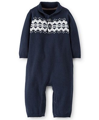 Carter's Baby Boys' Sweater Jumpsuit