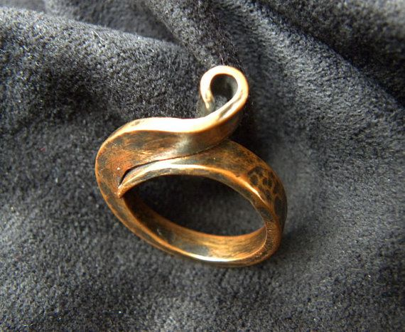 Copper Forged Ring by Dajamana on Etsy, $40.00