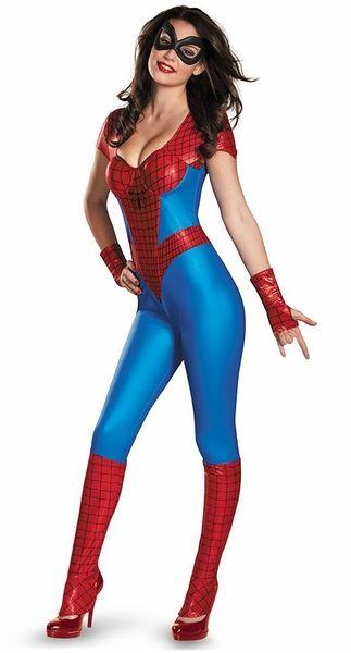 Spidergirl Bustier Jumpsuit Costume