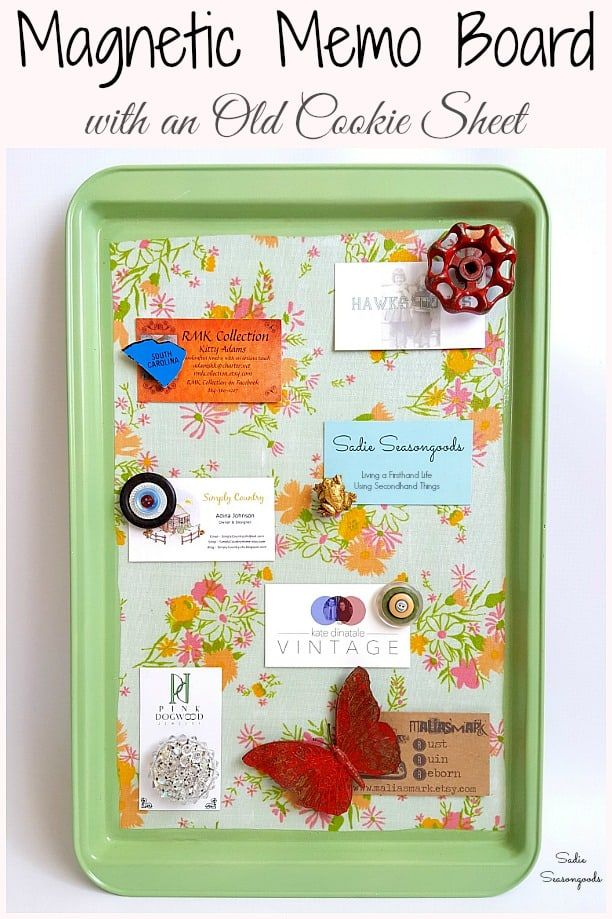Magnetic Memo Board Kitchen Memo Board By Upcycling A Cookie