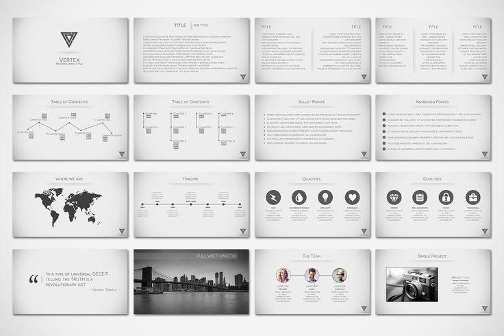 Vertex - Minimal Presentation by Tugcu Design Co. on @creativemarket