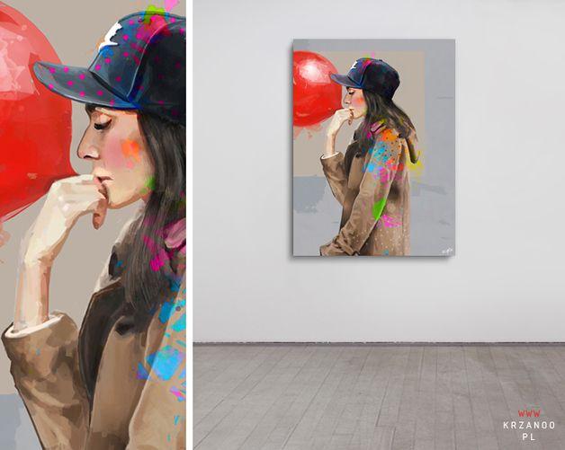 Ladyi FFF/ 80x60cm print on canvas - KRZANOO  I www.krzanoo.pl