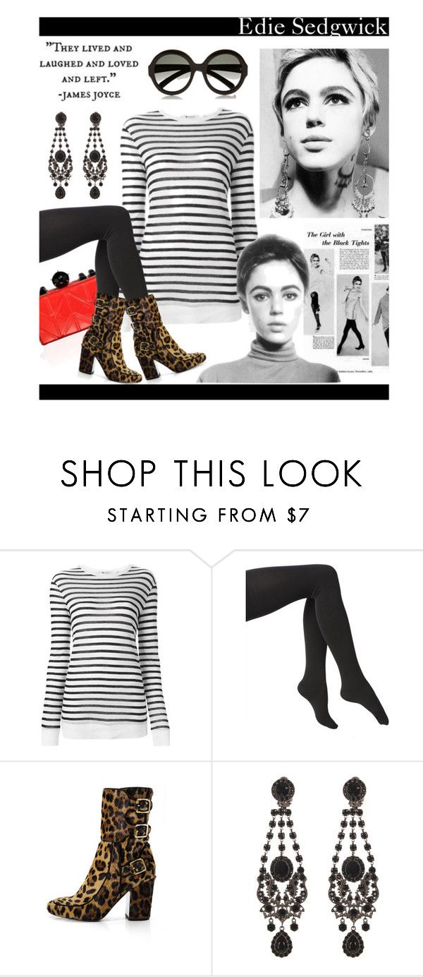 """""""Edie Sedgwick, Style Icon"""" by hellodollface ❤ liked on Polyvore featuring Sedgwick, Alexander Wang, Via Spiga, Laurence Dacade, Givenchy, Prada and styleicon"""