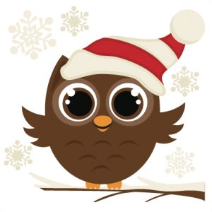 Archivos SVG navidad de archivos de corte Winter Owl SVG
