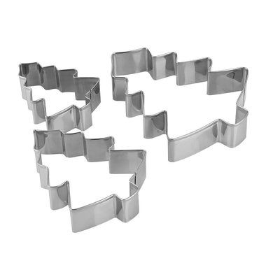 Set of 3 nested Christmas Tree - Cookie Cutters