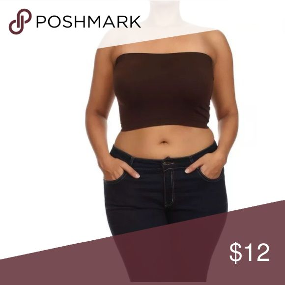 Plus Size Bandeau Bra Top Seamless Strapless New A must have basic that will suit many of your wardrobe needs! Pair this strapless bandeau top under anything sheer, use with a low cut top that needs a little something underneath...etc.   Featuring a seamless-wireless strapless bandeau tube top! Now available in plus size! This seamless top doesn't not have underwire so it is not meant for support but to add something to those sheer items that need a little something underneath or are a…