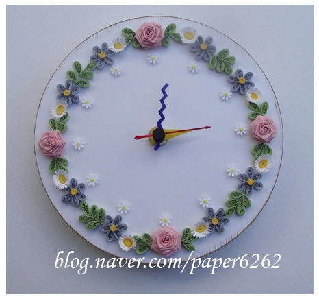 Clock quilled by-Claire Sunok Choi-  http-//blog.naver.com