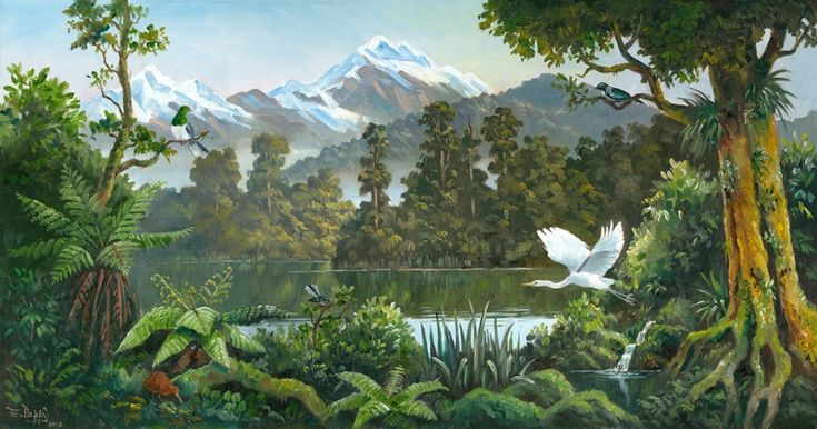 Aotearoa Print by Ernest Papps