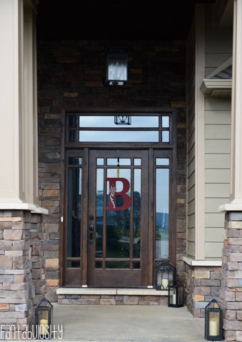 Craftsman Style Home Front Porch Entry, Home Tour http://fantabulosity.com