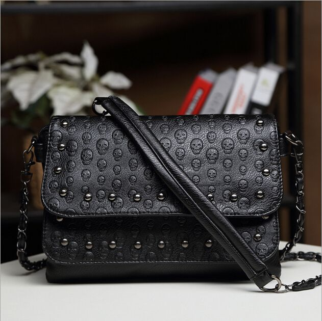 Women's Black handbag Skull Pattern //Price: $18.00 & FREE Shipping //     #skull #skullinspiration #skullobsession #skulls