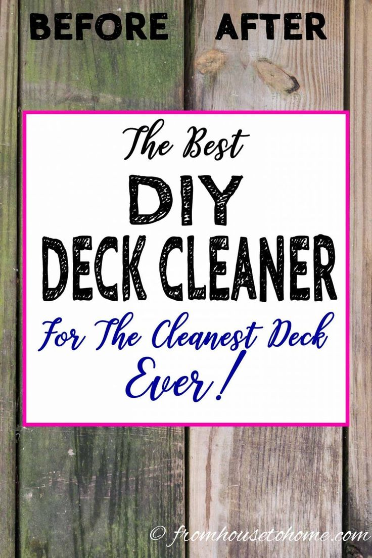 Composite Deck Cleaning Solution Diy