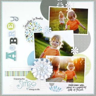 Enjoying the Simple Things Scrapbook Layout Idea from Creative Memories    #scrapbooking