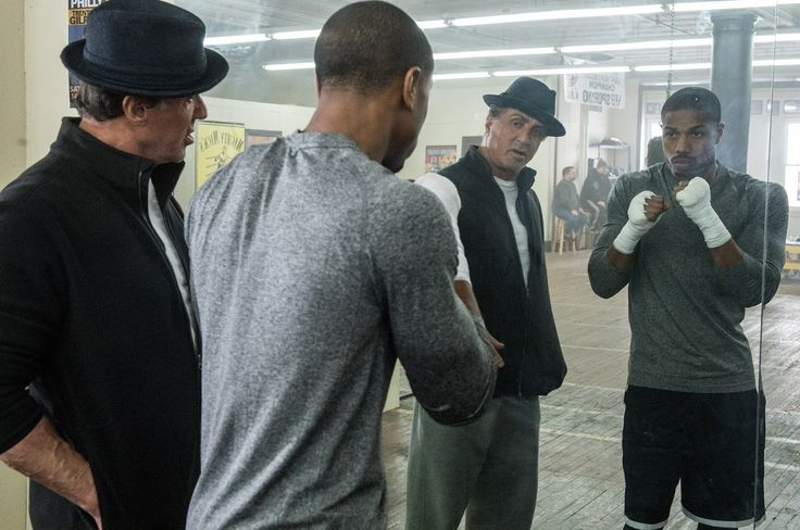Image of Michael B. Jordan and Sylvester Stallone in Creed