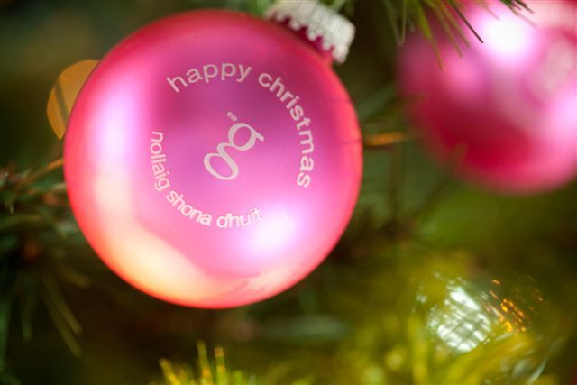 Christmas bauble at the g www.theghotel.ie