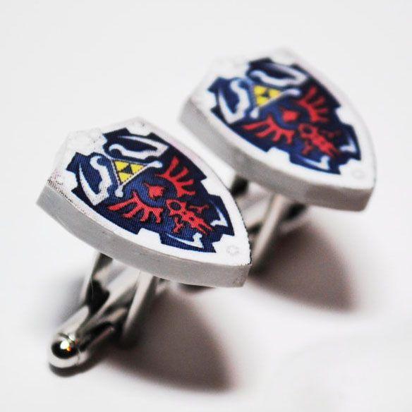Legend of Zelda Hylian Shield Cufflinks...for my boyfriend. =)