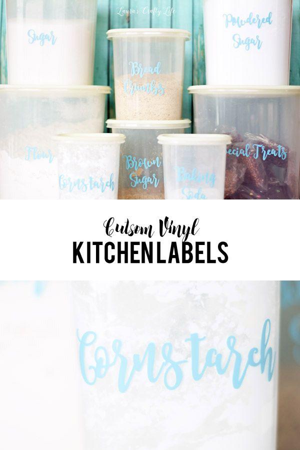 Custom Vinyl Kitchen Labels using Cricut Explore