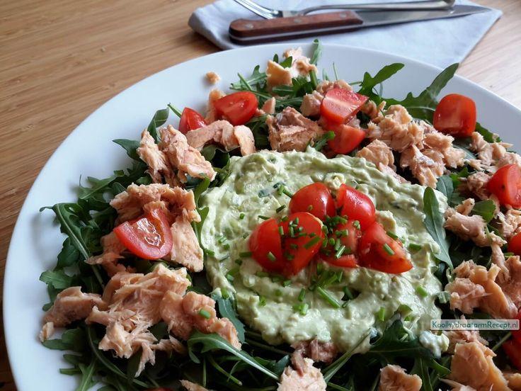 rucola salade zalm