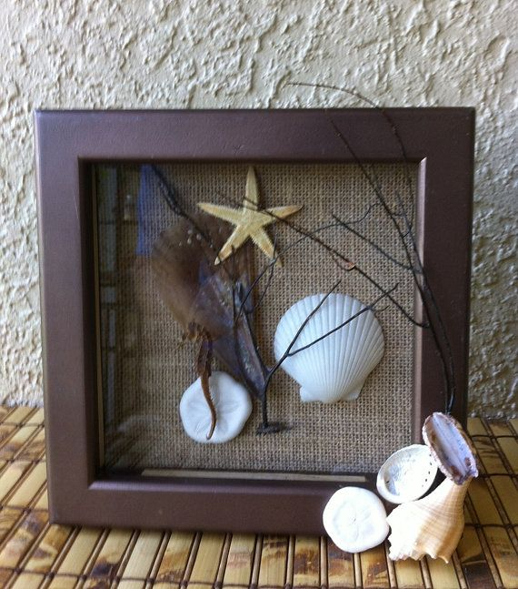 Beach Theme Home Decor Shadow Box Beach Gift: 124 Best Images About Decor