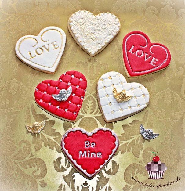KEKSE - COOKIES - Julia Bärwald - Heart Valentines Day Cookies