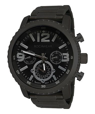 Look what I found on #zulily! Black Three-Dial Chronograph Watch by Rocawear #zulilyfinds