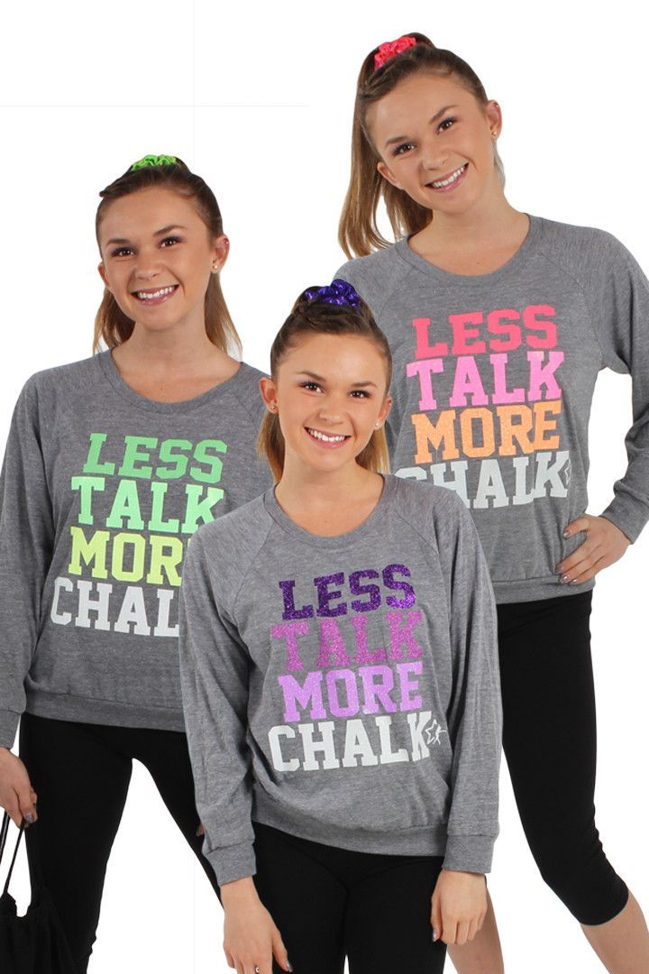 Less Talk More Chalk Gray Pull Over