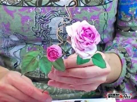 Fiori in porcellana fredda: La Rosa Antica, tecnica e corso completo. - YouTube