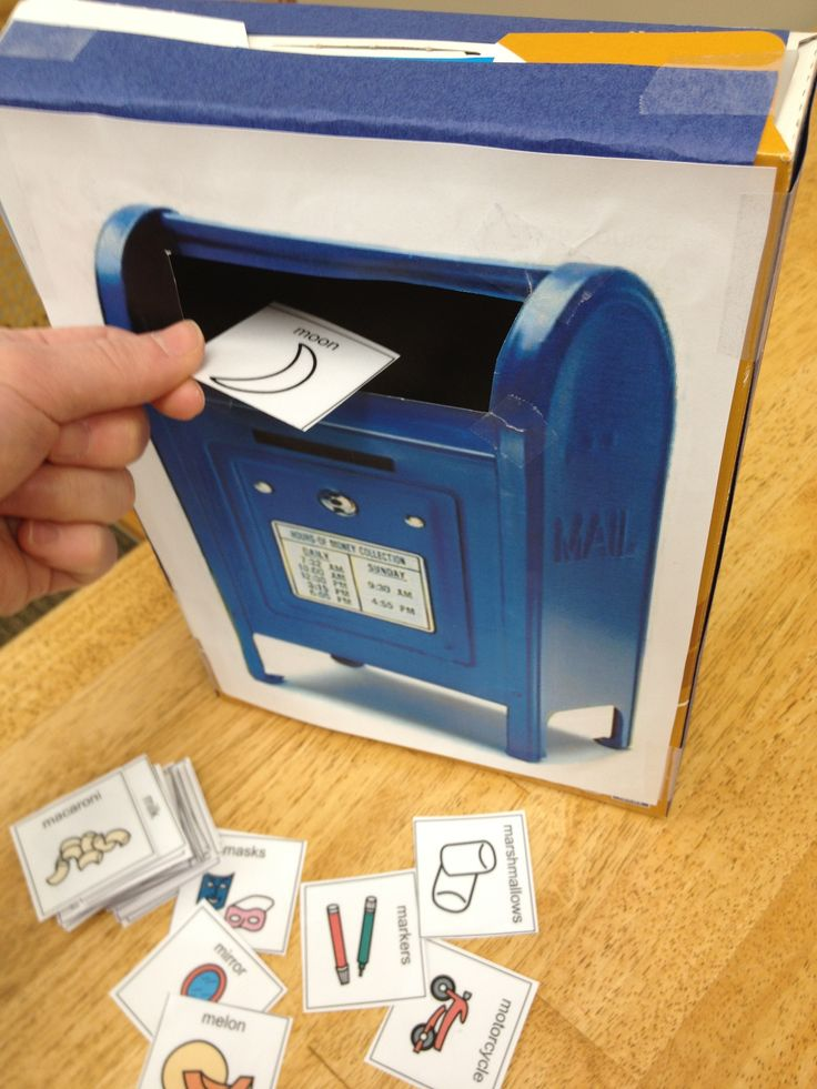 "Pediatric voice therapy activity- ""Mail me a ___"". Cut out cards with /m/ initial words to practice with this resonant voice technique activity."