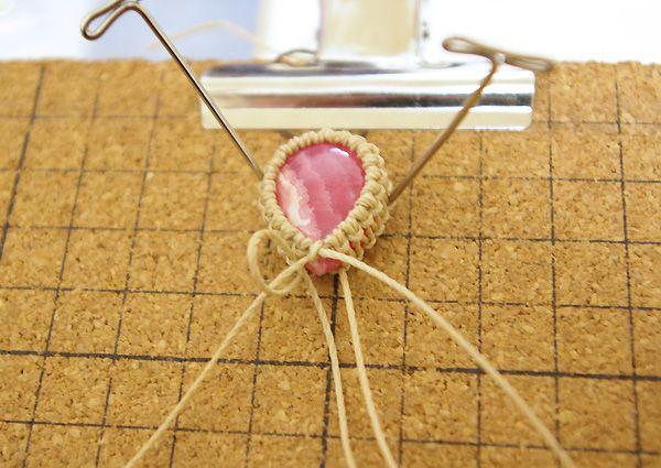 マクラメ編みブレスレット作り方(結び方レシピ) インカローズ | 福岡パワーストーン倶楽部