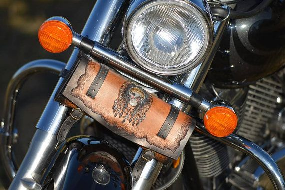 Motorcycle tool bag Indian Skull by HobbitLeatherworks on Etsy