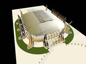 La maqueta de su moderno estadio que nunca fue - año 2007