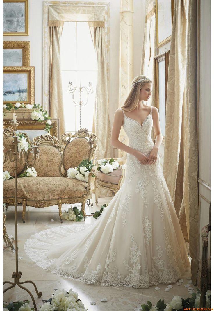 abiti da sposa da sposa in pizzo applique