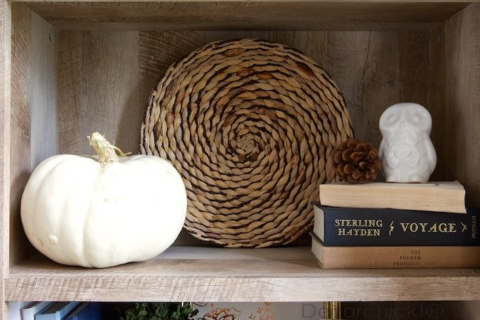 Crossmill Bookshelf from Walmart | Decorchick!® | Be Our Guest | Pinterest | Fall entryway ...