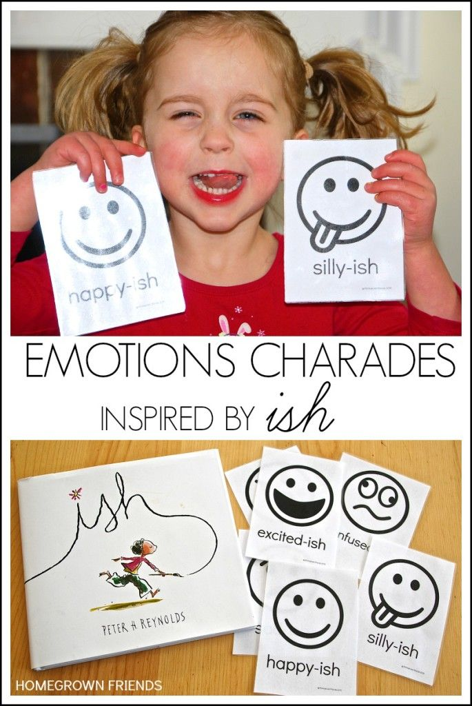 Emotions Charades Inspired by Ish by Peter Reynolds #Ish #PreschoolBookClub