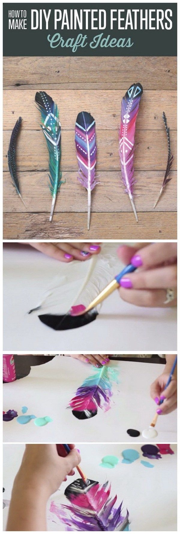 DIY Painted Feathers. DIY Painted Feathers. Another fun and easy to make DIY weekend project for girls!