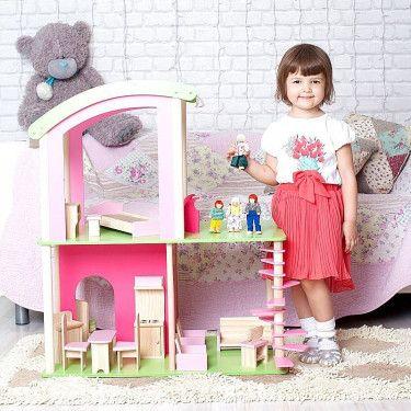 Флоренция - дом для мини-кукол и для барби, dy-0103, с мебелью и куклами