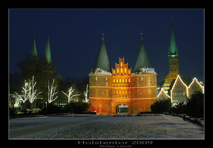 The Holsten Gate, Lübeck, Germany