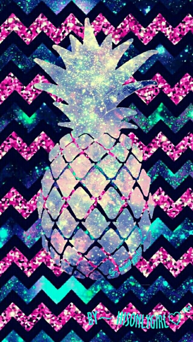 Chevron Pineapple Galaxy Glitter Wallpaper I Created For The App CocoPPa