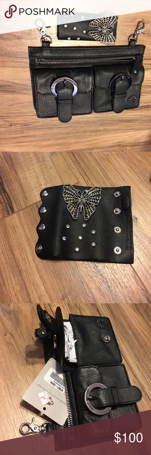 Haley Davidson belt bag and hair band Never been used brand new with tags! My husband bought it for me but I own too many bags! Harley-Davidson Bags Mini Bags