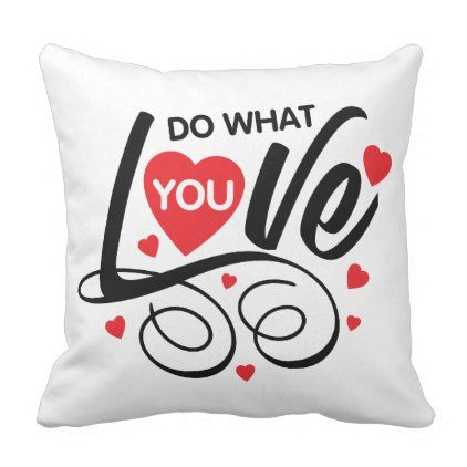 Red Heart Love Romantic Quote  Pillow - red gifts color style cyo diy personalize unique