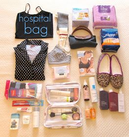 Beauty Parler: Hospital Bag for Mama-to-Be {maternity}  So much stuff!