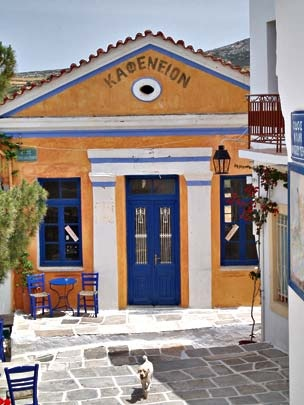 Lefkes, Paros, Greece-Here you feel happy! Try it! Drink your morning coffee.