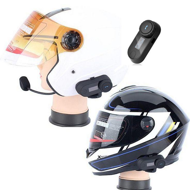 52.36$  Watch now - http://alidpw.shopchina.info/go.php?t=32812699665 - Portable Motorcycle Helmet Headsets Bluetooth Motorcross Helmets Interphone Walkie Talkie With LED FM Radio For All Helmet  #buyonline