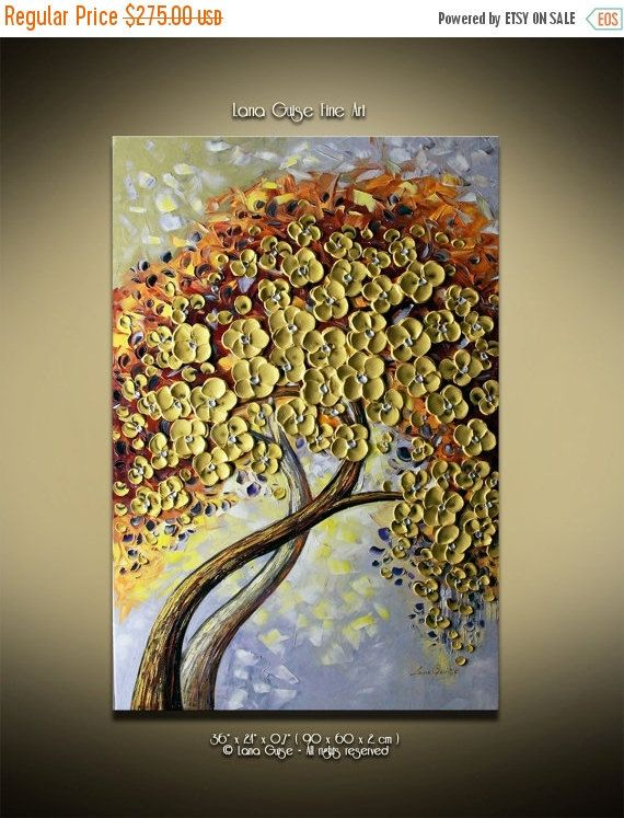 CHRISTMAS SPECIAL PRICE Gold Memories by CreativePaletteKnife