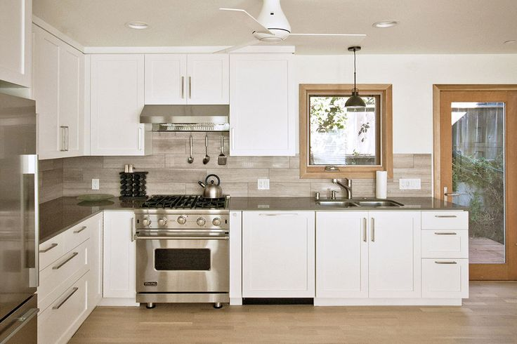 contemporary custom kitchen with quartz counters