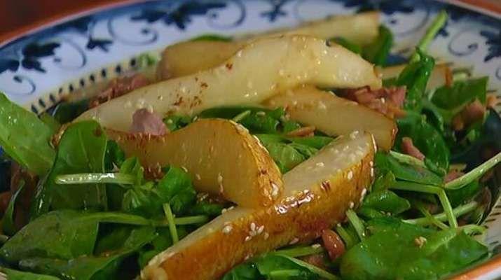 Изысканный салат с чечевицей