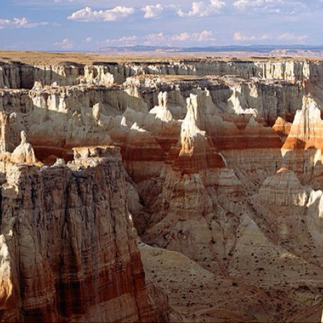 """Coal Mine Canyon, Painted Desert, Arizona Hiked to """"the ghost"""" during an all day hike when I was little. Breathtaking! Sadly, you can only hike the upper rim now as of 2009."""