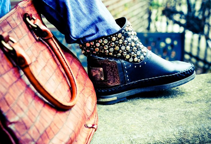 Karma of Charme, ankle boot #studs #rockstyle #edgychic