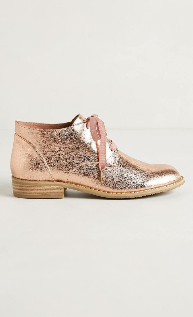 Rose gold booties