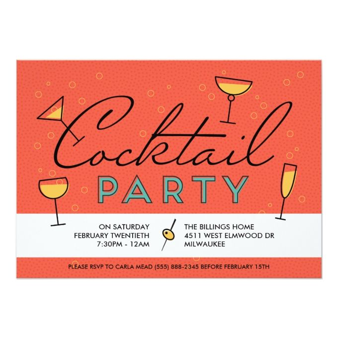 1013 best Cocktail Party Invitations images on Pinterest